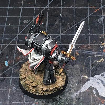 Horus Heresy Dark Angels Cataphractii Praetor WIP