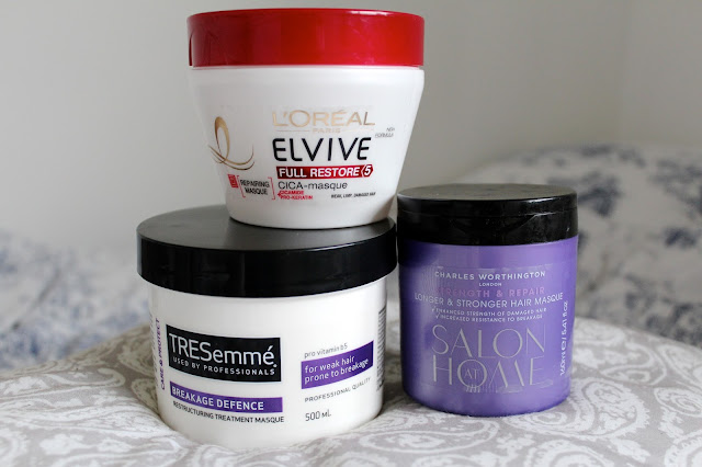 hair mask masque l'oreal elvive tresemme charles worthington boots superdrug drugstore treatment dry hair damaged review top 3 bblogger bbloggers beauty haircare recommendations kirstie pickering reviews