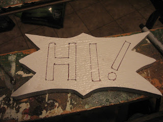 Letters are outlined and ready for paint
