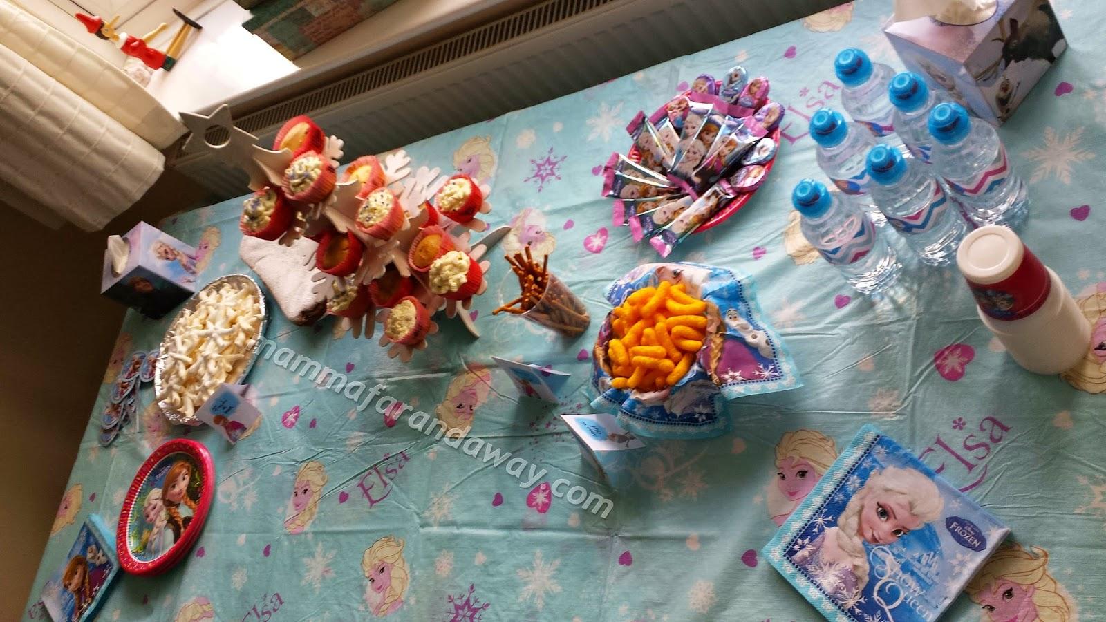 Il nostro frozen party semplice veloce e fatto in casa - Decorazioni per compleanni fai da te ...