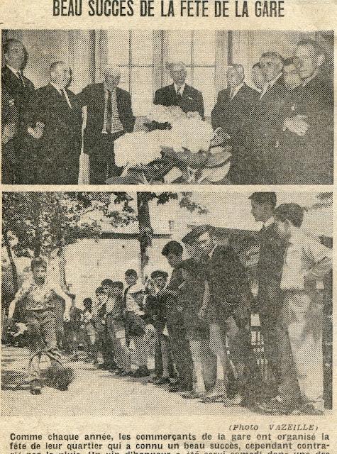 Journal La Liberté de 1960, fête de la gare de Riom,63.