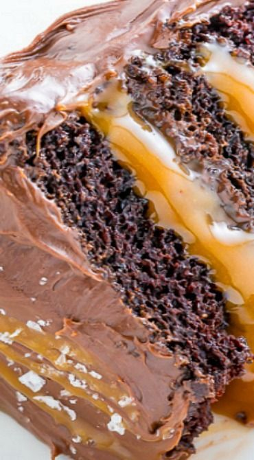 Now that you know how to make Easy Salted Caramel Sauce, let's make this decadent Salted Caramel Chocolate Cake!