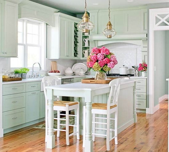 Light Green Kitchen Cabinets: Belle Maison: Color Love :: Mint Green