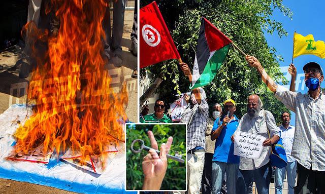 تونس: تضامن مع فلسطين ... احتجاجات أمام سفارة الإمارات تنديدا بقرار التطبيع مع الكيان الصهيوني (صور)