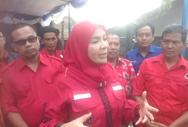 Eva Dwiana Memaparkan Visi dan Misi Calon Walikota di Kantor DPC Partai Demokrat Bandar Lampung