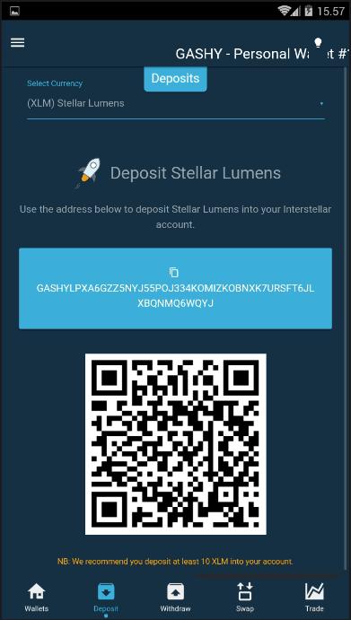 alamat dompet / wallet stellarmu