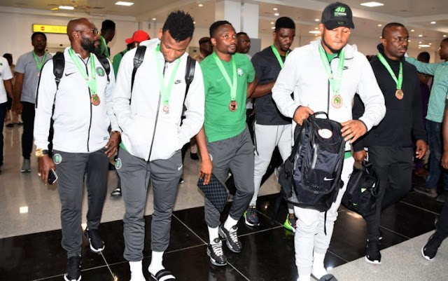 Photos Of Super Eagles' Return From Egypt After Their 2019 AFCON Outing