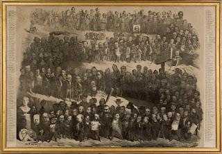 Nadar - Panthéon Nadar - 1854 - Paris, Maison de Victor Hugo - [Près de 300 gens de lettres de l'époque représentés, dont Marceline Desbordes-Valmore.]