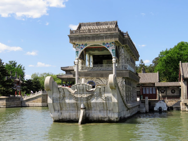 The Marble Boat at the Summer Palace in Beijing China