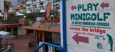 Mini Golf and Billiard Golf in Puerto Colón, Tenerife. Photo by Philip Walsh, January 2020