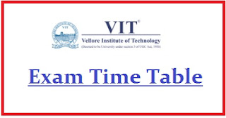 VIT University Exam Date Sheet 2020