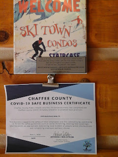 Signage posted for Ski Town Condos