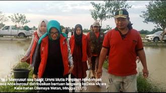 Jemaah Majelis Ahbaburosul Sumbang Langsung Bantuan Korban Banjir Cilamaya