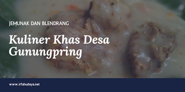 Jemunak dan Blendrang, kuliner khas Desa Gunungpring