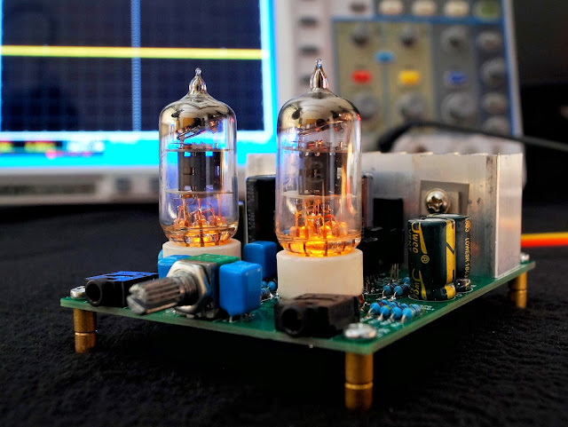 Гибридный усилитель на лампе 6J1 (6Ж1П) и микросхеме LM1875T