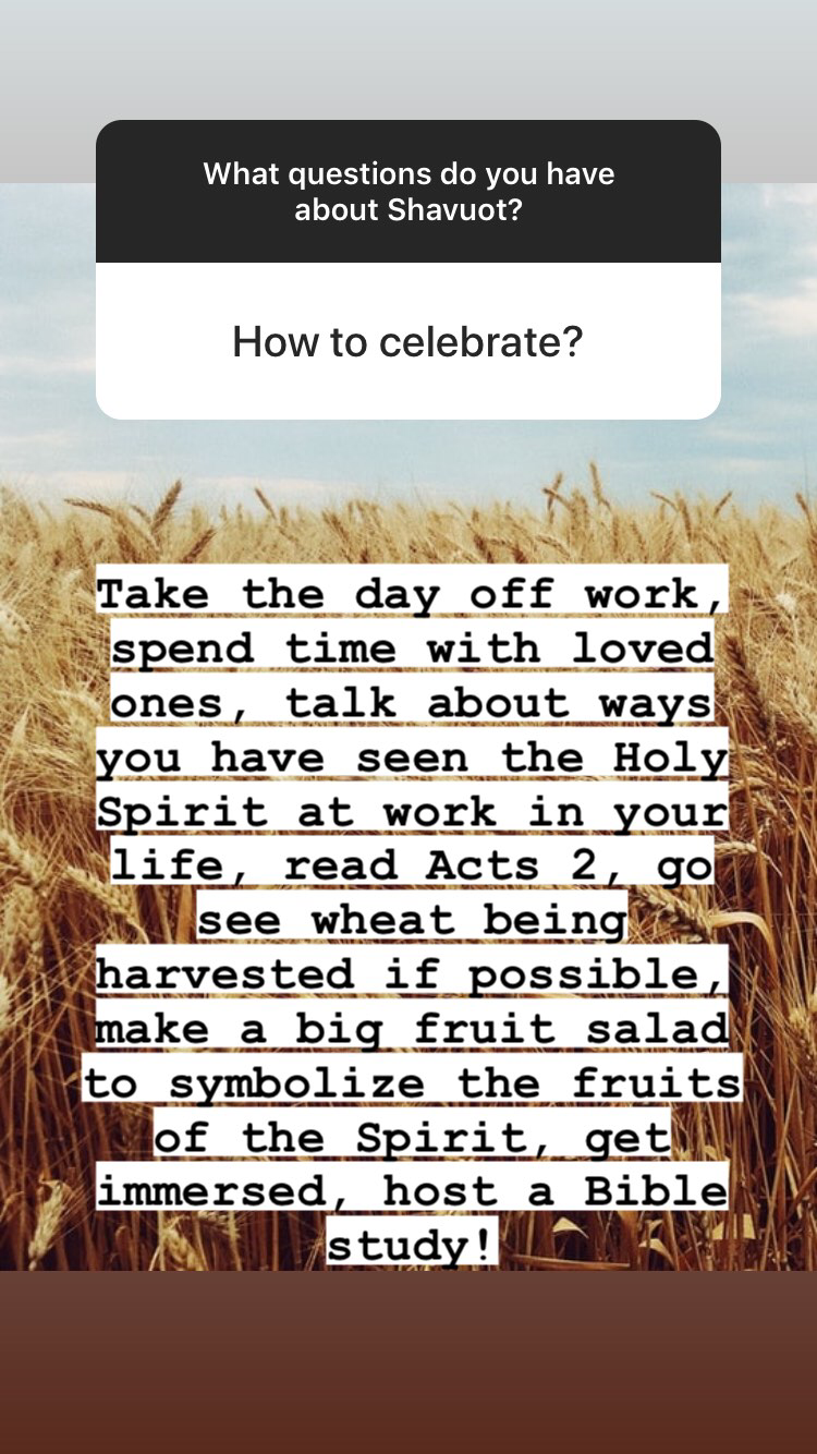 How to celebrate Shavuot + questions and answers on this Biblical set apart time | Land of Honey