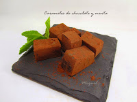 Caramelos de chocolate y menta