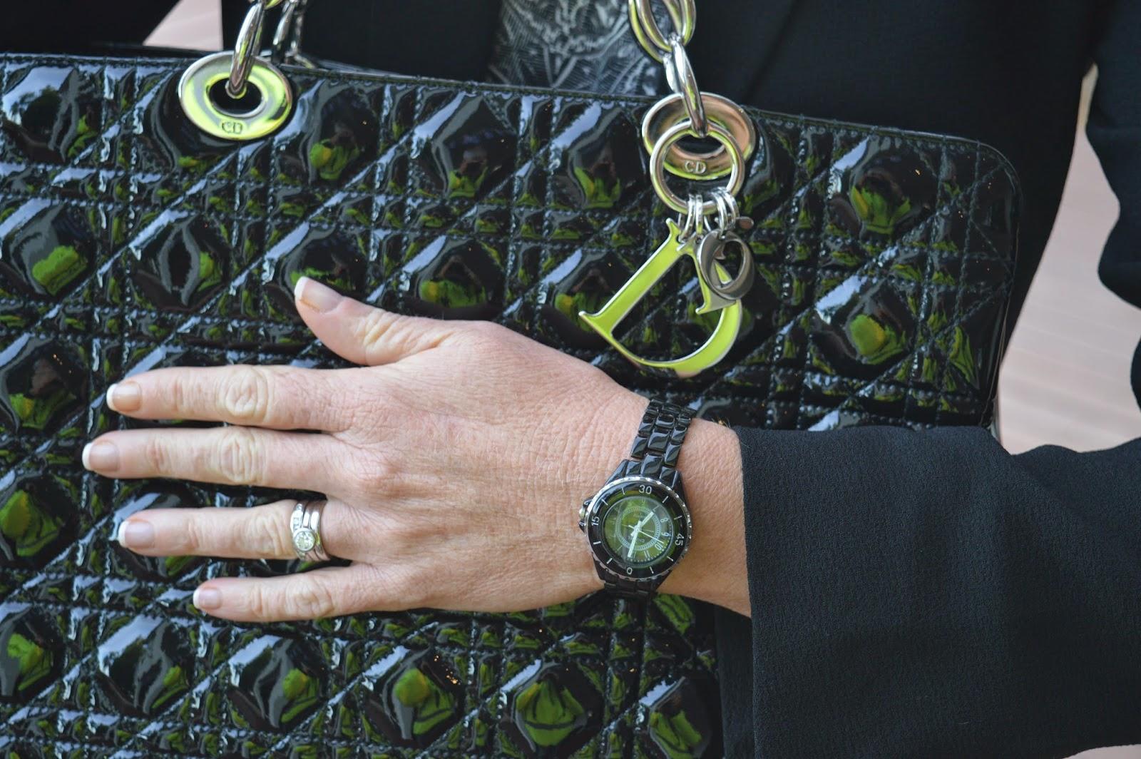 Dior Black Patent Tote