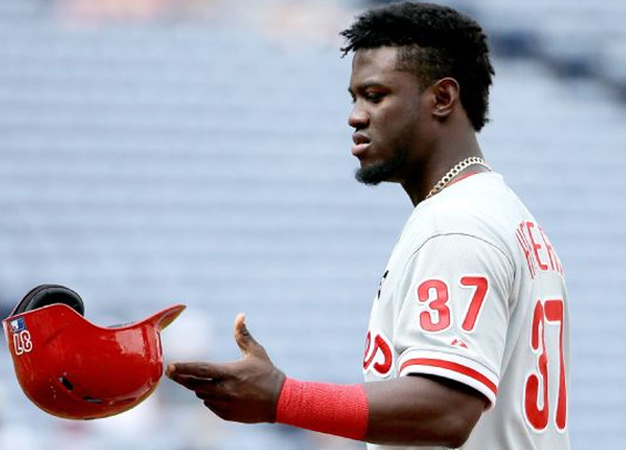 Odubel Herrera suspended for domestic violence