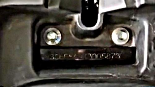 Letak Nomor Rangka dan Nomor Mesin Mio Z