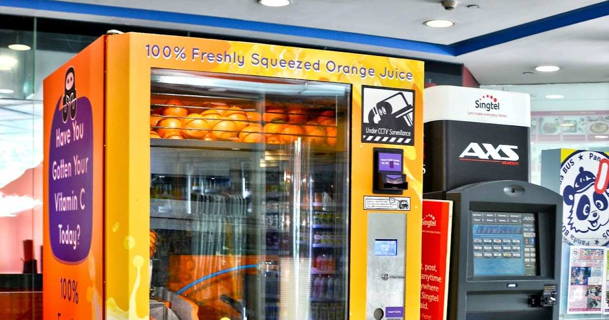 Entree Kibbles 100 Freshly Squeezed Orange Juice From A Vending