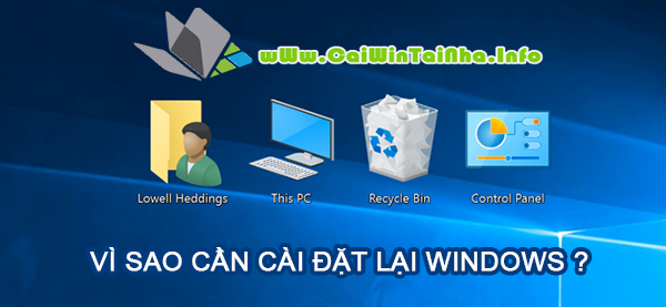 vi sao can cai dat windows