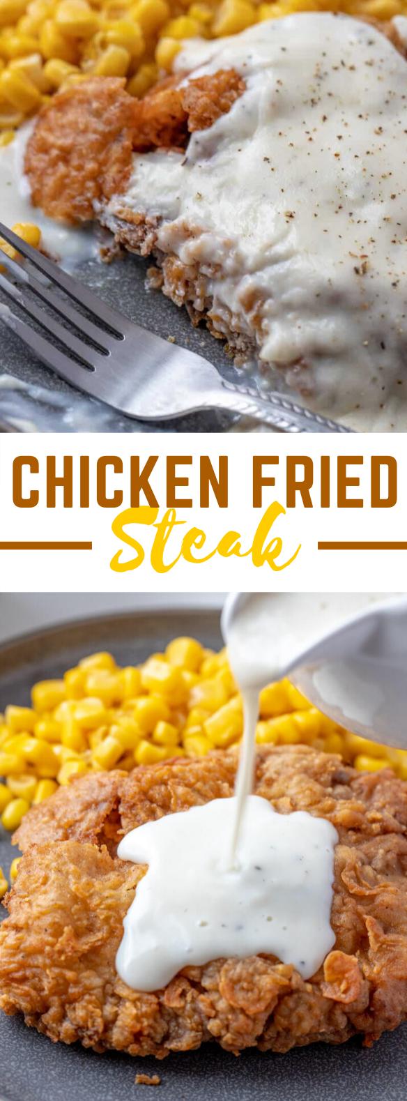 CHICKEN FRIED STEAK #dinner #familyfood