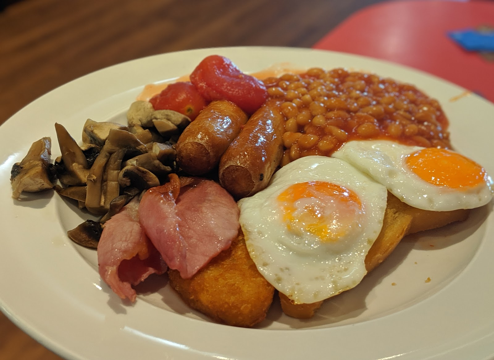An A-Z Guide to Coral Island, Blackpool  - Full English Breakfast at Peggy's