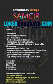 Lowongan Kerja Nganjuk Di Cafe Samcir Reborn September 2020 Lowongan Kerja Surabaya April 2021 Lowongan Kerja Jawa Timur Terbaru