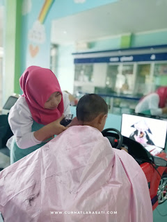 potong rambut di baby and mommy salon Depok