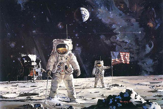 Robert McCall 1970 moon landing