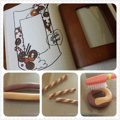 cornice biscotti dolcetti fimo progetto