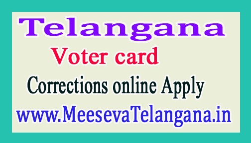 Telangana Voter Identity Card in Corrections Online Apply