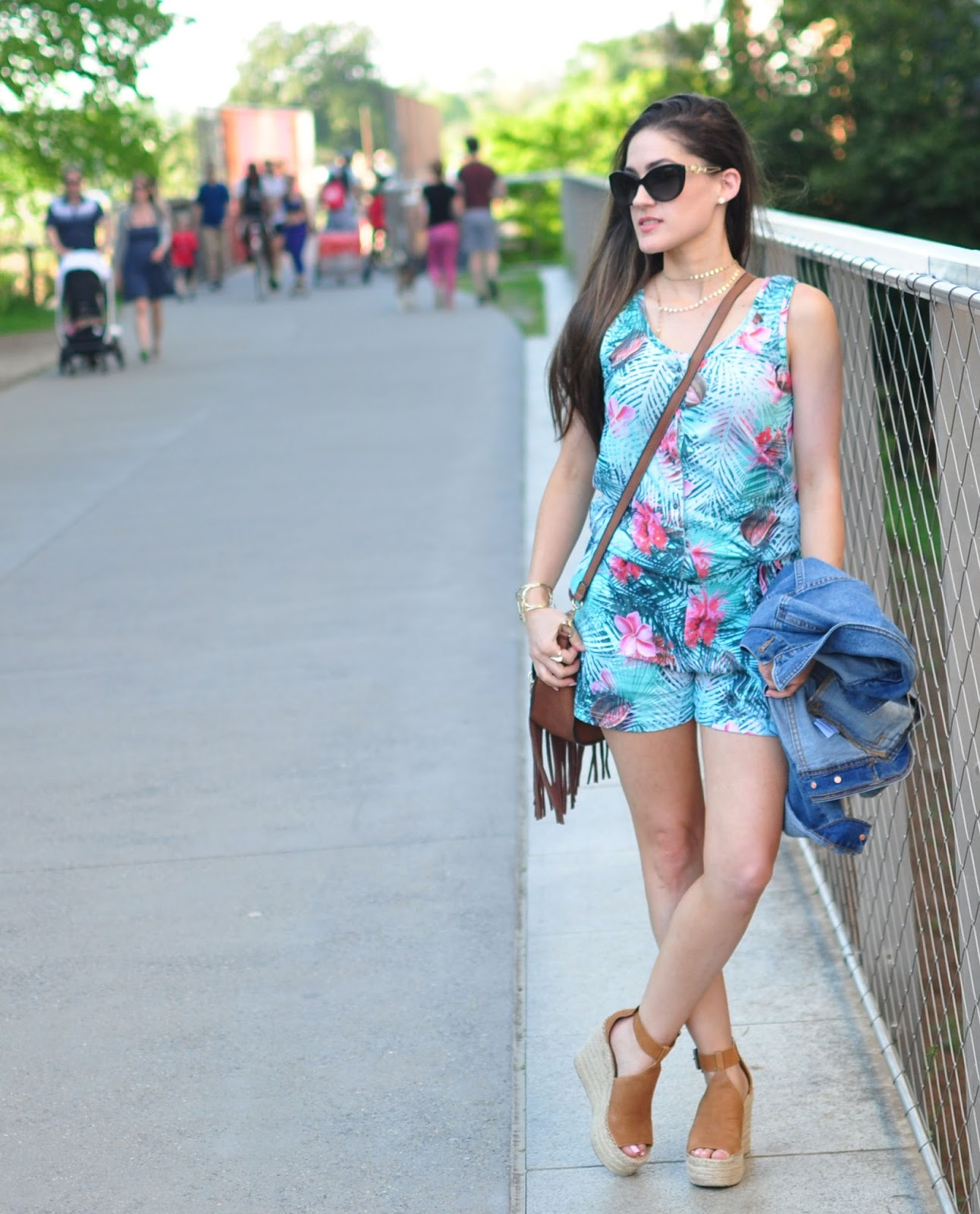 Palm Print Romper via the Luvit App - modeled by Erica Valentin