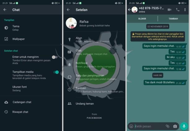 Cara Mengaktifkan Dark Mode Whatsapp Terbaru di Android dan iOS
