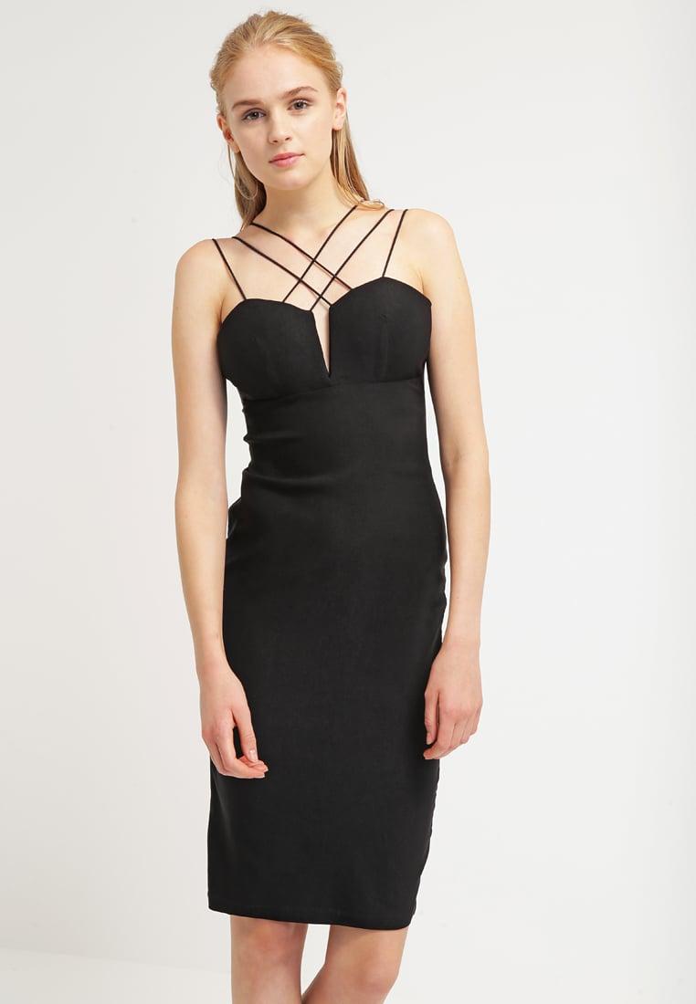 slip dress, czarna sukienka, sukienka bieliźniana