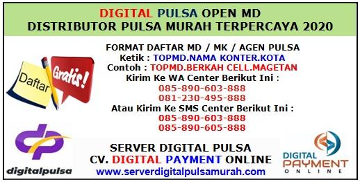 Digital Pulsa Distributor Agen Pulsa Termurah Se Indonesia Open MD
