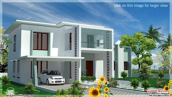 Modern flat roof house