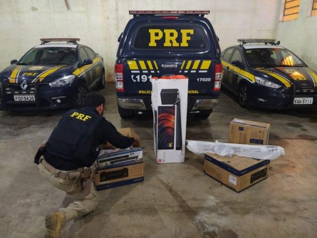 PRF realiza segunda apreensão de aparelhos eletrônicos no mesmo dia em São Paulo
