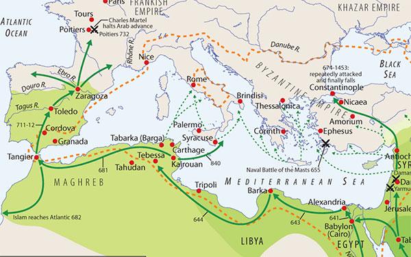 Spread of Islam Map