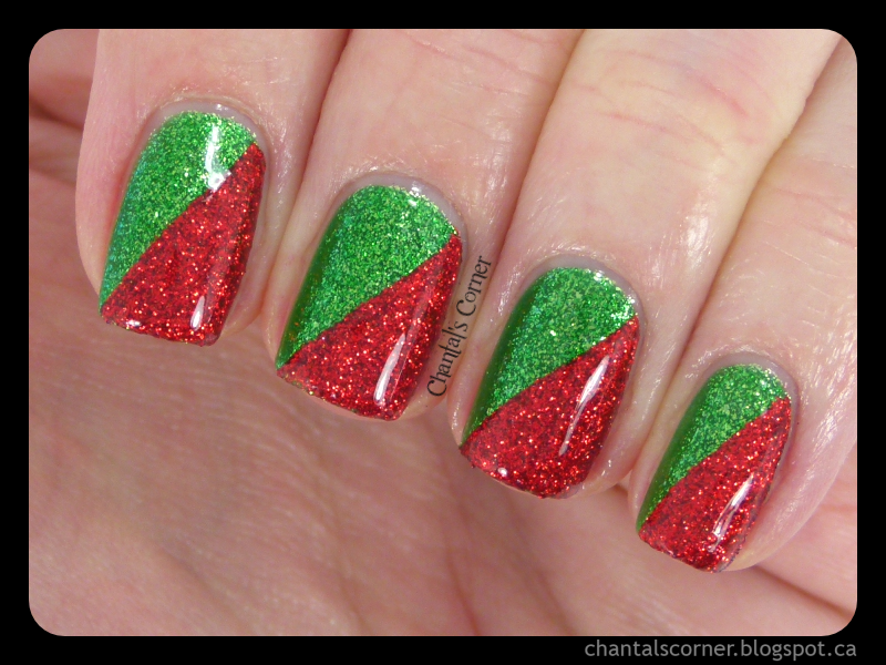 Chantal's Corner: Red and Green Christmas Nails - with ...