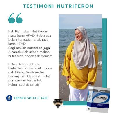 testimoni nutriferon untuk HFMD