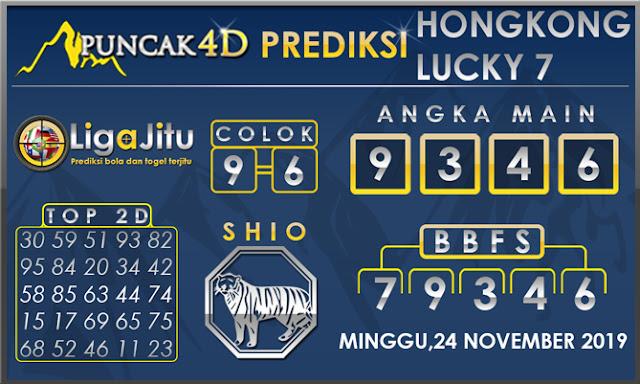 PREDIKSI TOGEL HONGKONG LUCKY7 PUNCAK4D 24 NOVEMBER 2019
