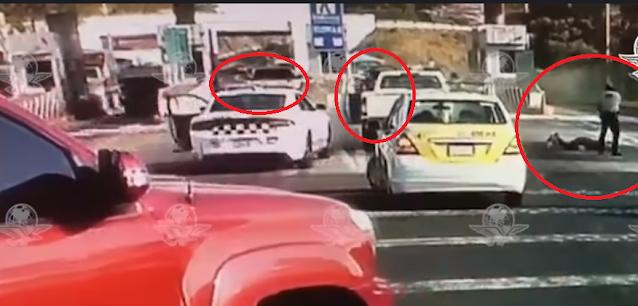Video: Guardia Nacional se enfrentan a Sicarios en Taretan, Michoacán en caseta de cobro de autopista tras repeler agresión, minutos antes había robado camioneta