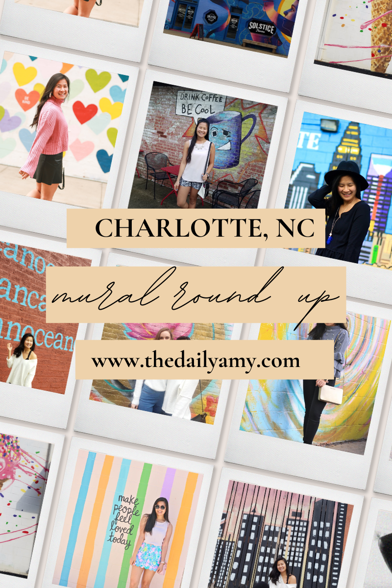 Charlotte NC Mural Round Up - Most instagramable places in Charlotte, NC