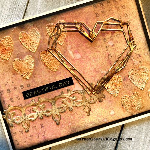 Sara Emily Barker https://sarascloset1.blogspot.com/ Tim Holtz Sizzix Geo Frames Crochet 2 Valentine Card Set Tutorial 2