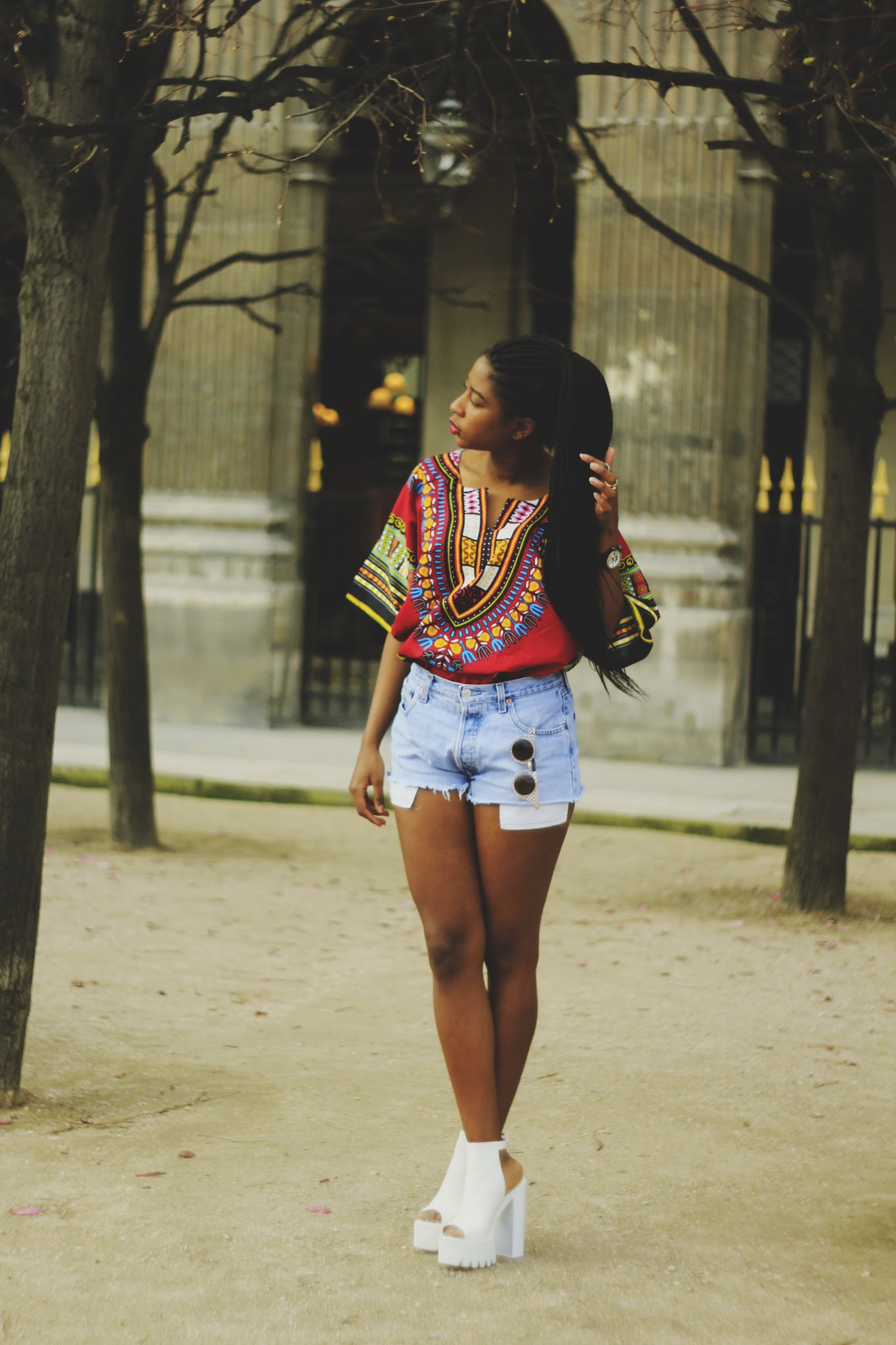 Lookbook Dashiki rouge & Boho My Fashion Break blog concours tunique Angelina Dressing des 4 Saisons