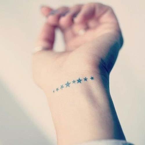 bayan bilek dövmeleri yıldız woman wrist tattoos stars