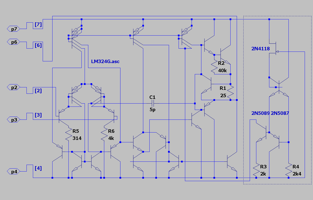 Chips Tech Opamp Virtual Testing Lm324 Lt1012 Lt1122 Following Circuit Diagram Show Two Comparator Circuits Using The Lm101 1 St Modification G Is 366ma