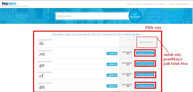 Di Hosting Gratis 000webhost Dengan Domain Gratis Freenom